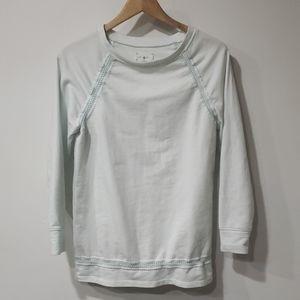 Lou &Grey woven sweatshirt top size small